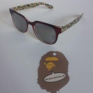 Bape A Bathing Ape Green Camo Sunglasses